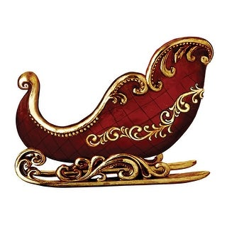 Roman 91706ACE Santa's Sleigh Christmas Decoration, Red
