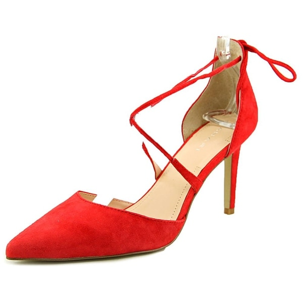 Tahari Blair Women  Pointed Toe Suede Red Heels