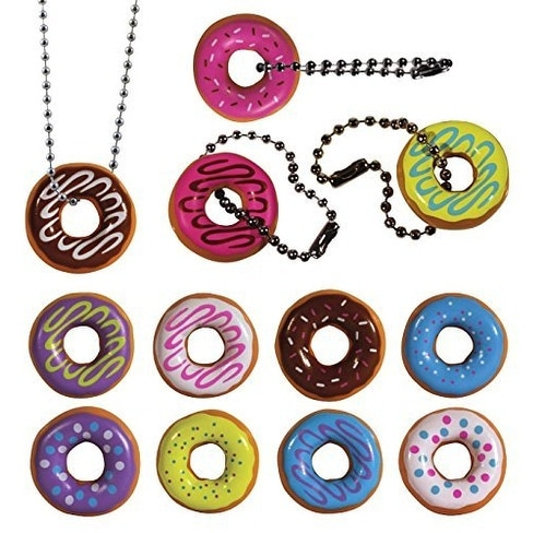 I Love Donuts Keychain. Assorted Colors. 24 PC Set. Fun Party Favor