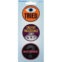 Wrights Iron-On Applique Badges 3/Pkg-Adulting