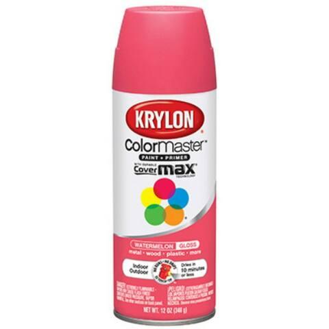 Krylon K05353302 ColorMaster Paint & Primer, 12 Oz, Watermelon