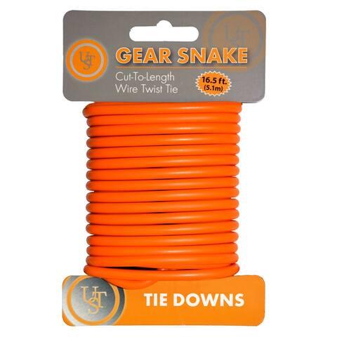 UST 20-90887-08 Gear Snake Bendable Steel Wire Cord, Orange, 16.5'