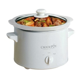 Crock Pot 5025-WG-NP Manual Slow Cooker, 2.5 Qt, Round, White