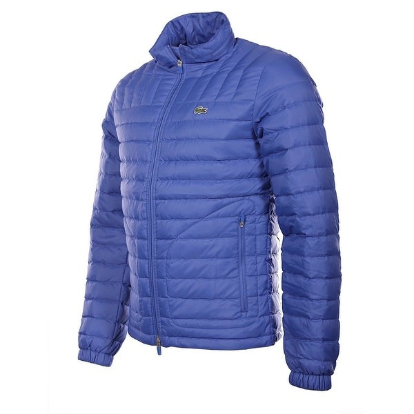 b9a9cb24643 Shop Lacoste NEW Solid Blue Mens XL Water Repellent Full-Zip Puffer ...