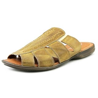 Bacco Bucci Neto Men Open Toe Leather Slides Sandal