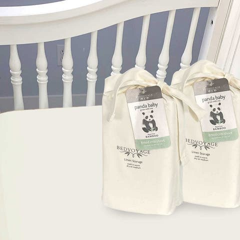 """100% Bamboo Fitted Crib Sheet 2 Pack, Rayon/Viscose from Bamboo - 9'6"""" x 13'6"""""""