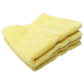 Feather and Stitch 2-Ply Wash Cloth, 13x13 Inches, Yellow