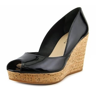 Via Spiga Stam Women Open Toe Synthetic Black Wedge Heel