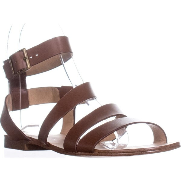 Splendid Caracas Buckle Ankle Strap Sandals, Cognac