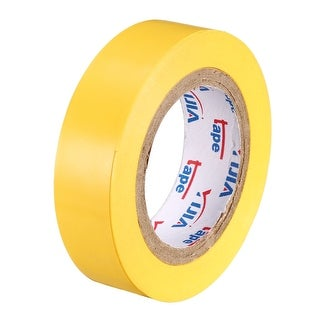 """PVC Electrical Insulating Tape Single Sided 21/32"""" Width 49ft 20mil Yellow - 20 mil Thick, Yellow"""