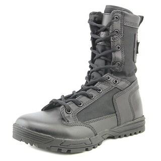 5.11 Tactical Skyweight Patrol Side Zip Men Round Toe Leather Black Combat Boot