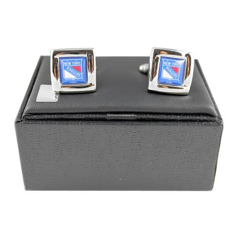 NHL New York Rangers Square Cufflinks Gift Box Set