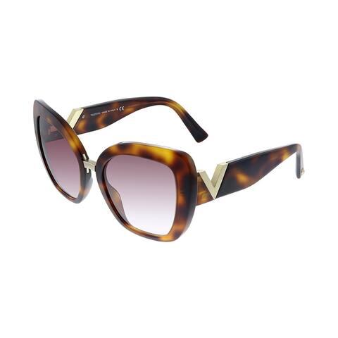 Valentino VA 4057 50118H 54mm Womens Havana Frame Purple Gradient Lens Sunglasses