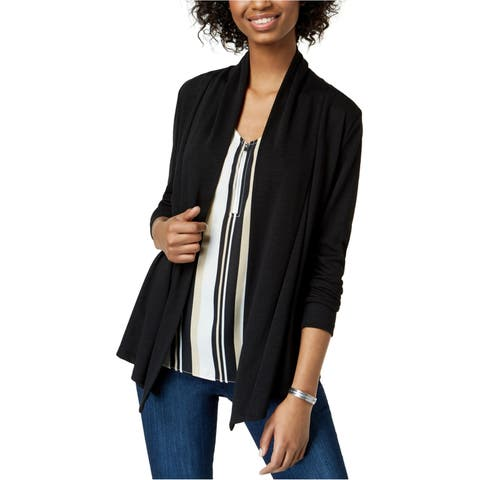 Bcx Womens Solid Cardigan Sweater