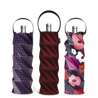Built NY Origami Wine Tote Gift Set of 3, Bordeaux