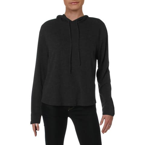 Michelle by Comune Womens Glenoma Hoodie Heathered Long Sleeves