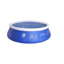 6.4' Blue Round Floating Solar Prompt Set Swimming Pool Cover