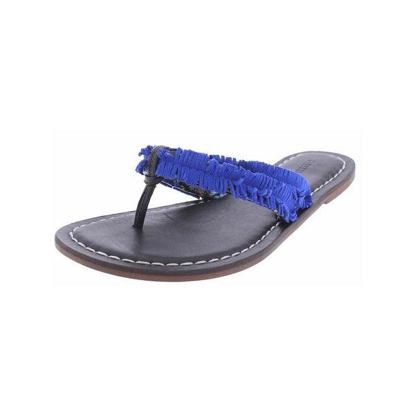 Bernardo Womens Miami Thong Sandals Suede Printed