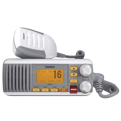 Uniden UM385 Fixed Mount VHF Radio - White UM385 Fixed Mount VHF Radio - White