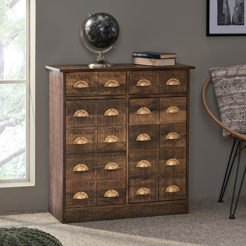Terrell Indoor Mango Wood Handcrafted Cabinet by Christopher Knight Home