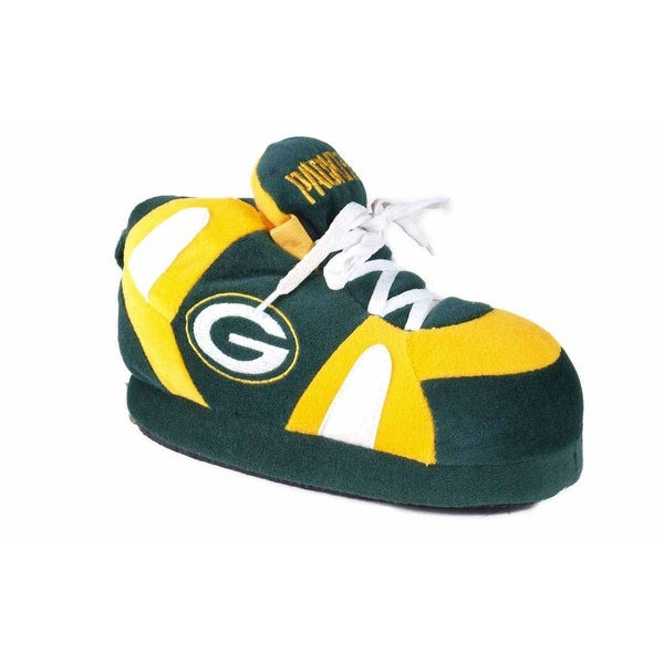 Happy Feet Mens and Womens Green Bay Packers NFL Sneaker Slippers - green bay packers slippers