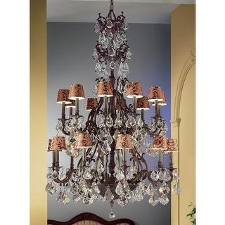 """Classic Lighting 57340-AGB 72"""" Crystal Chandelier from the Majestic Collection"""