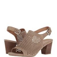 Franco Sarto Womens Harlet2 Suede Peep Toe Casual Slingback Sandals