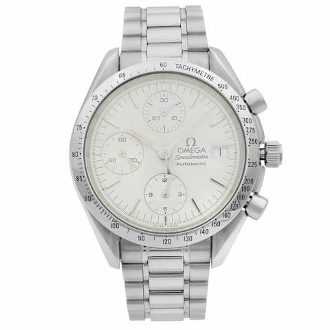 Omega Men's 3511.20.00 'Speedmaster' Chronograph Stainless Steel Watch - White