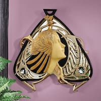 Design Toscano  Peacock Maiden Mirrored Wall Sculpture