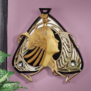 Design Toscano Peacock Maiden Mirrored Wall Sculpture