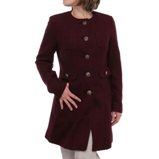 Kenneth Cole NY  Fancy Button Front Pocket Basic Coat Basic Coat