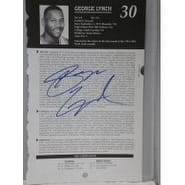 Signed Lynch George 5 12 x 8 12 Magazine Bio Page autographed