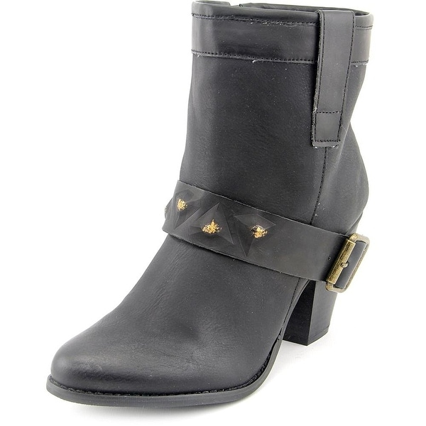 DOLCE by Mojo Moxy Womens BLACKJACK WESTERN BOOT Leather Almond Toe Ankle Cow...