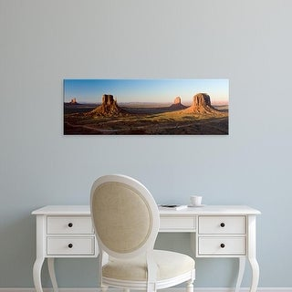 Easy Art Prints Panoramic Image 'Cliffs on a landscape, Monument Valley, Monument Valley Tribal Park, Utah' Canvas Art