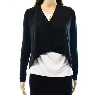 Lauren Ralph Lauren NEW Black Women's Size Large L Faux Suede Jacket