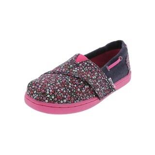 Toms Girls Bimini Boat Shoes Floral Print Slip On