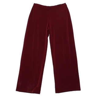 Alfani NEW Maroon Red Women's Size XL Wide Straight Leg Pull-On Pants