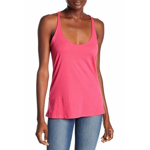 Abound Hot Pink Womens Size XXS Scoop Neck Knot Back Tank Cami Top 734