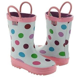Pluie Pluie Toddler Little Girls White Polka Dot Rain Boots 5-2