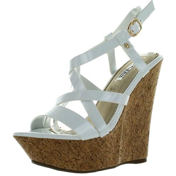 Kayleen Dame-2 Womens Criss Cross Strappy High Heel Platform Wedge Sandals