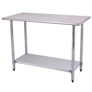 Costway 24'' x 48'' Stainless Steel Work Prep Table Commercial Kitchen Restaurant|https://ak1.ostkcdn.com/images/products/is/images/direct/e13d4060d4551ead69dfa88a9dfb66fc79e7b916/Costway-24%27%27-x-48%27%27-Stainless-Steel-Work-Prep-Table-Commercial-Kitchen-Restaurant.jpg?_ostk_perf_=percv&impolicy=medium
