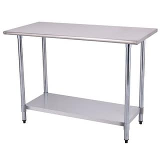 Shop Costway 24 X 48 Stainless Steel Work Prep Table Commercial