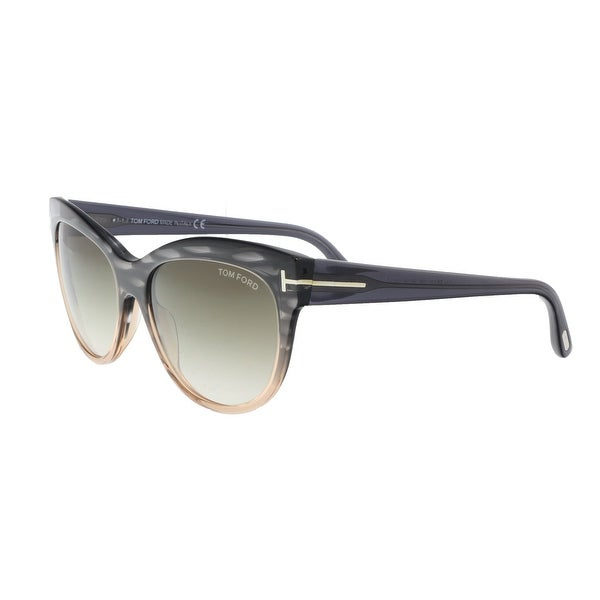 08eaba082a Tom Ford FT0430 S 20P LILY CHARCOAL LIGHT CORAL Cateye Sunglasses - Grey -