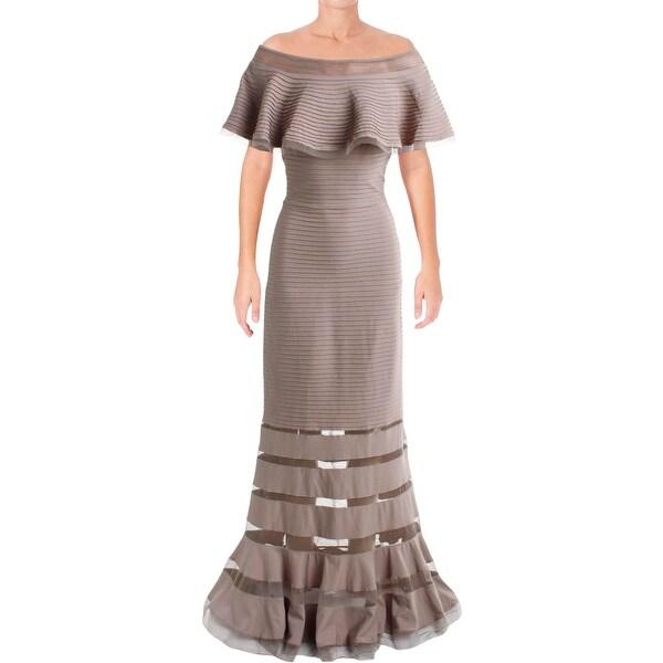 78b8a78e9bf0 Shop Tadashi Shoji Womens Semi-Formal Dress Pintuck Mesh Inset ...