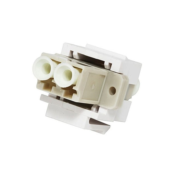 Monoprice Modular LC Fiber Optic Keystone Jack Coupler - White