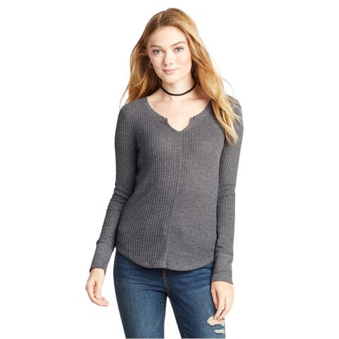 Aeropostale Womens Waffle-Knit Pullover Sweater