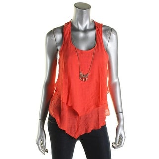 BCX Womens Juniors Tank Top Tiered Chained