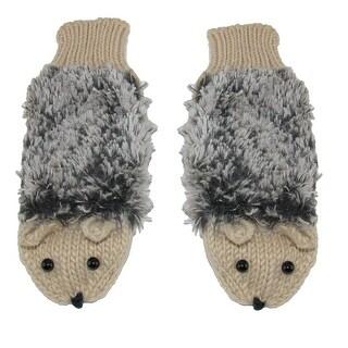 Howard's Women's Hedgehog Knit Mittens