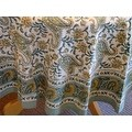 Handmade Rajasthan Paisley Floral Block Print Tablecloth 100% Cotton Rectangle Square Round - Thumbnail 12