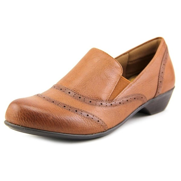 Comfortiva Rose Women Round Toe Leather Tan Loafer